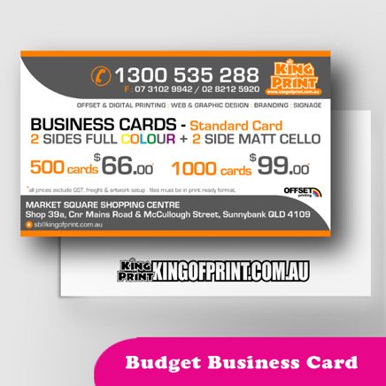Cheap Business Card by King Of Print